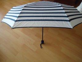 Opvouwbare paraplu wit-blauw