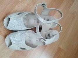 ara Strapped High-Heeled Sandals oatmeal