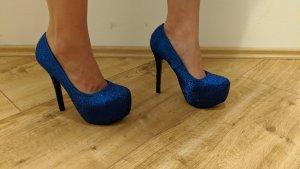 Damenschuhe Größe 39 (Plateau Pumps blau)