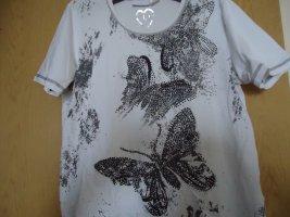Damenshirt Gr.38 weiß schwarz