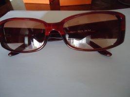 Escada Owalne okulary przeciwsłoneczne ciemnoczerwony