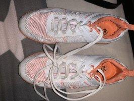 Calzino antiscivolo bianco-arancione