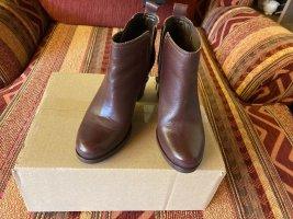 Arezzo Bottes à talon brun-bordeau cuir