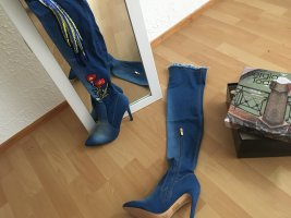 Sergio Todzi Buty nad kolano niebieski-czerwony