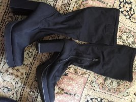 100% Fashion Plateauzool Laarzen zwart