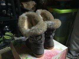 Fur Boots grey mixture fibre