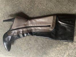 High Heel Boots black-grey