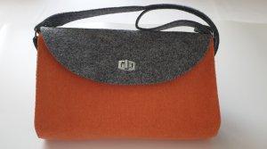 Crossbody bag neon orange-silver-colored
