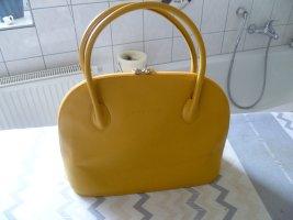 Damentasche schlichte, elegante Henkelasche  von L. Credi Leder gelb