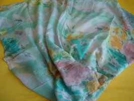 Shoulder Scarf lime-green-light pink