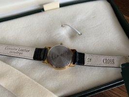 Cross Orologio con cinturino di pelle argento-nero