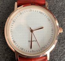 Analoog horloge rood-wit