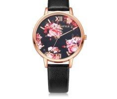 Reloj analógico negro-rosa