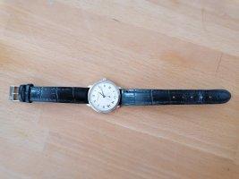 Frederique Constant  Geneve Orologio con cinturino di pelle nero-argento