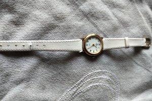 Junghans Horloge met lederen riempje wit-goud