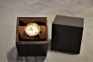 Michael Kors Reloj con pulsera de cuero amarillo oscuro-azul