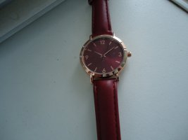 Analog Watch cognac-coloured-carmine