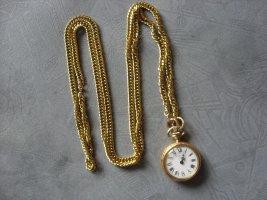 DAMENUHR, TASCHENUHR, Halskette mit Uhr, Handaufzug, Marke Frappant, Incabloc,