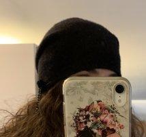 Chapeau en feutre gris anthracite-noir