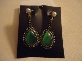Statement Earrings forest green