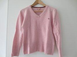 Daniel Hechter Pullover, rosa, 100% Lamm-Wolle, Gr. 36/S, V-Ausschnitt