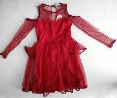 Danity Cut Out Dress dark red