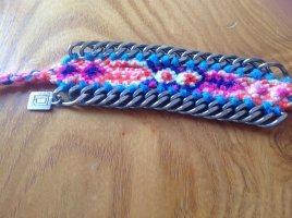 DanniJo Armband Freundschaftband mit Metall pink
