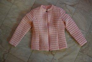 Doudoune blanc-rose clair polyester