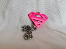DC Statement Necklace silver-colored-neon pink