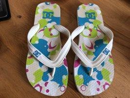 DC Shoes Flip-Flop Sandals white-blue