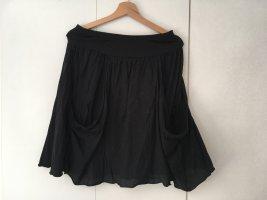 Deha Flared Skirt black cotton