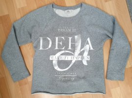 Deha Sweat Shirt light grey-silver-colored cotton