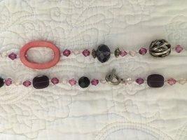 Dekorative Modeschmuckkette mit Glasperlen 100 cm