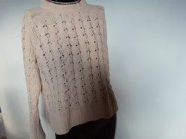 delicatelove Warkoczowy sweter nude