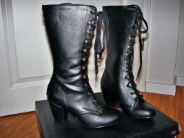 Demonia Gothic Boots black imitation leather