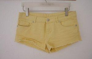 Denim Co. Hot Pants gelb Casual-Look