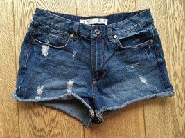 * DENIM & CO * HOT PANTS JEANS MINI SHORTS Blau Gr 38