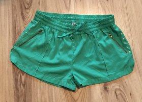 Denim Co. Pantalón corto verde-color oro