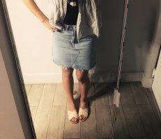 Zara Woman Gonna di jeans blu pallido-azzurro