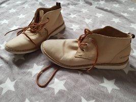 Desert Boots Schnürschuhe beige