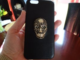 Philipp Plein Mobile Phone Case black-silver-colored synthetic material