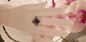 Design Juwelier Qualität Echter 925er Silberring gepunzt mit Kristallen Gr. 17,2 mm / 54 / 7 / 14 / N Statement