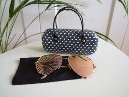 Unbekannte Marke Oval Sunglasses rose-gold-coloured-gold-colored