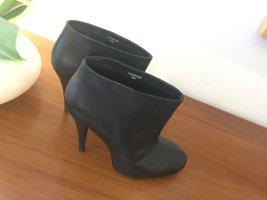 designer basics Wciągane buty za kostkę czarny Skóra