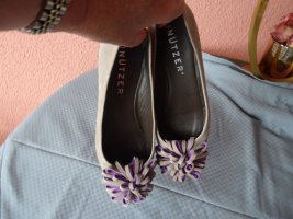 Unützer Ballerines Mary Jane gris clair-mauve cuir