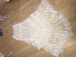 Charo Ruiz Sukienka z dekoltem typu bandeau biały Bawełna