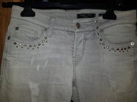 Cambio Jeans Jeansy 7/8 jasnoszary