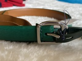 Ralph Lauren Cinturón de cuero verde Cuero