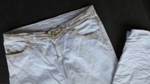 "Designer Jeans Blue Fire White Gold Edition  ""destroyed"""