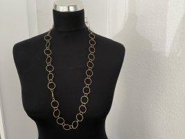 Designer Kette kleine Kreise Gold Gliederkette